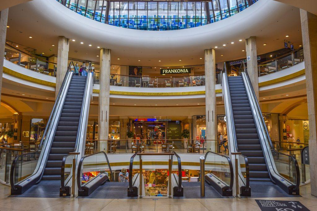 Einkaufszentrum im Shutdown.